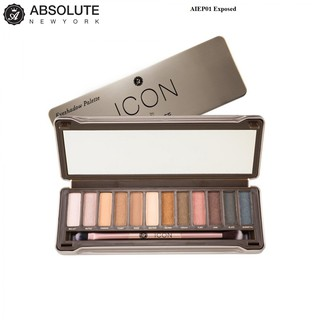 Phấn mắt Absolute Newyork Icon Palette AIEP01 Exposed 100gam - 12 màu thumbnail