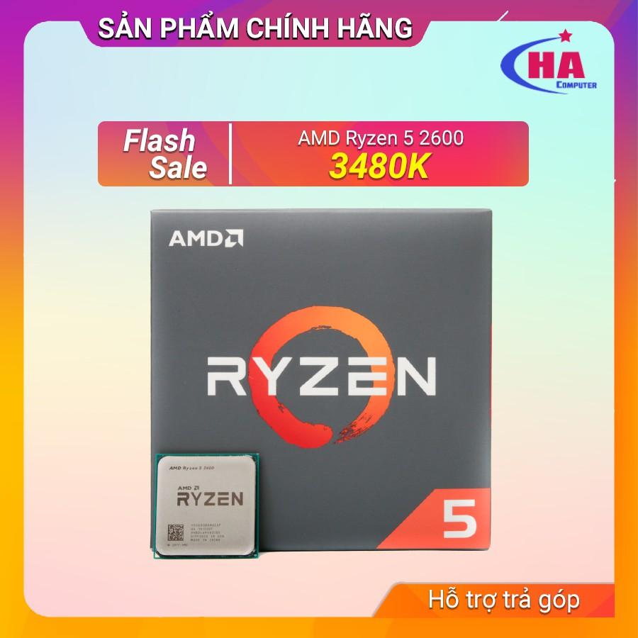 Bộ sử lý Ryzen 5 2600 Bảo hành 6 tháng ( New Nguyên Seal) Giá chỉ 3.150.000₫