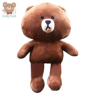 Gấu bông Line Brown Cao Cấp Khổ Vải 1m2 Cao 1m Màu Nâu [ Diabrand ]