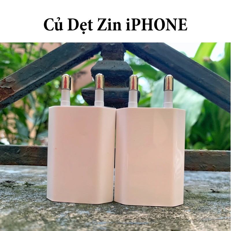 (BH 12 Tháng) Củ Sạc Dẹt iphone Zin dành cho Iphone 5/5s/6/6s/6Plus/7/7s/8/8s Plus