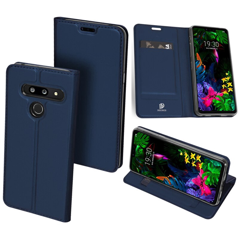 "DUX DUCIS Leather Case For LG G8s ThinQ 6.2"" Case Magnetic Flip Cover"