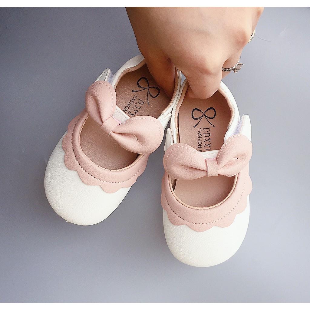 Giày Bé Gái - Giày búp bê bé gái bánh bèo Vitage Hàn Quốc có quai dán cho bé gái dễ thương V627
