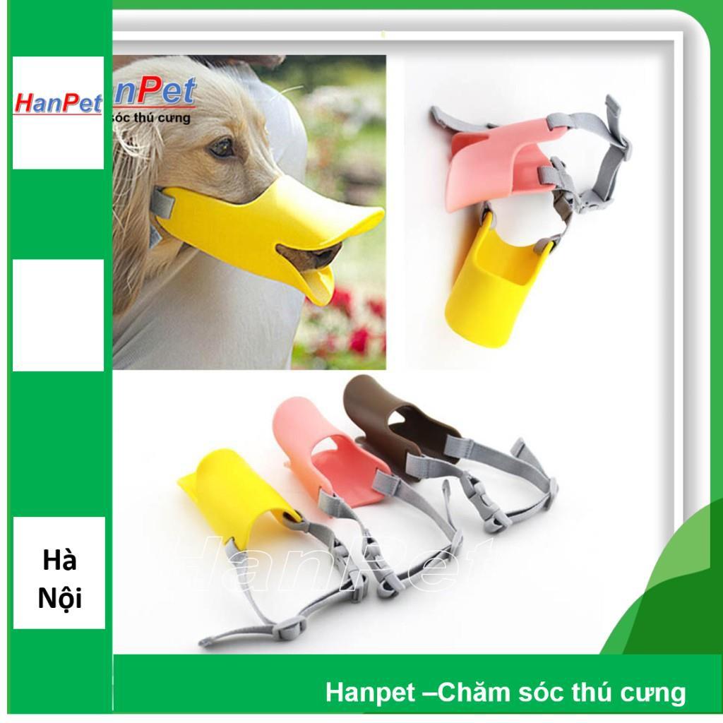 Rọ mõm chó hình mỏ vịt - nhựa dẻo siêu bền ( 3size dùng cho chó vòng mõm nhỏ)|S (mõm 13-15cm)