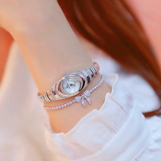 Đồng hồ nữ BEE SISTER BS001 mặt ovan nhỏ xinh