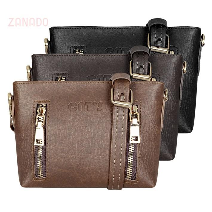 Túi đeo chéo nữ CNT mini khóa vàng xinh xắn TĐX20