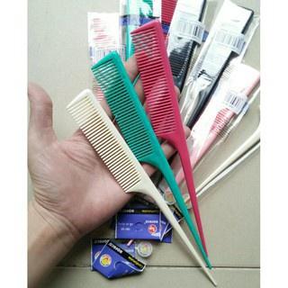 Lược Rẽ Ngôi Nhiều Màu, Salon Có Đầu Nhọn Tiện Lợi Tạo Được Nhiều Kiểu Tóc 21,5 2,5 cm 4