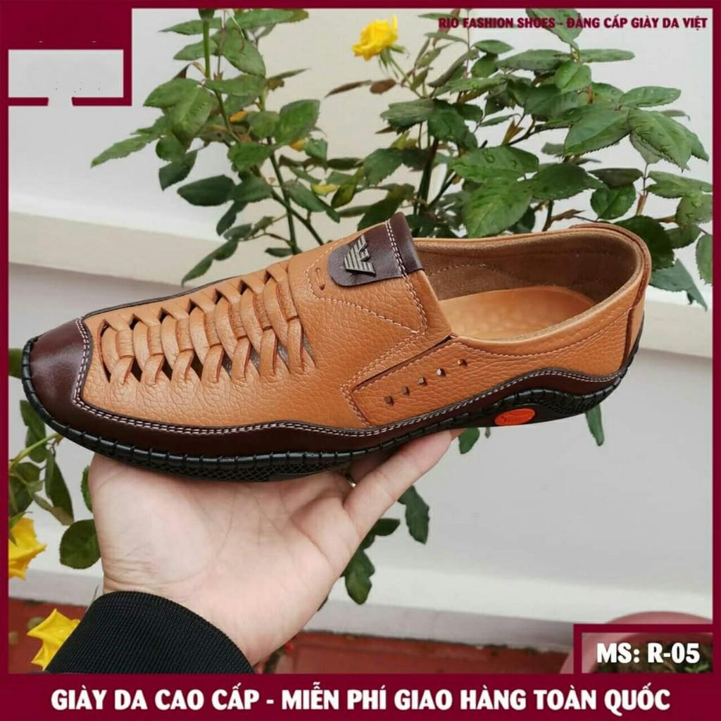 Giày Lười Da Bò Nam ( BH 12 THÁNG) R05