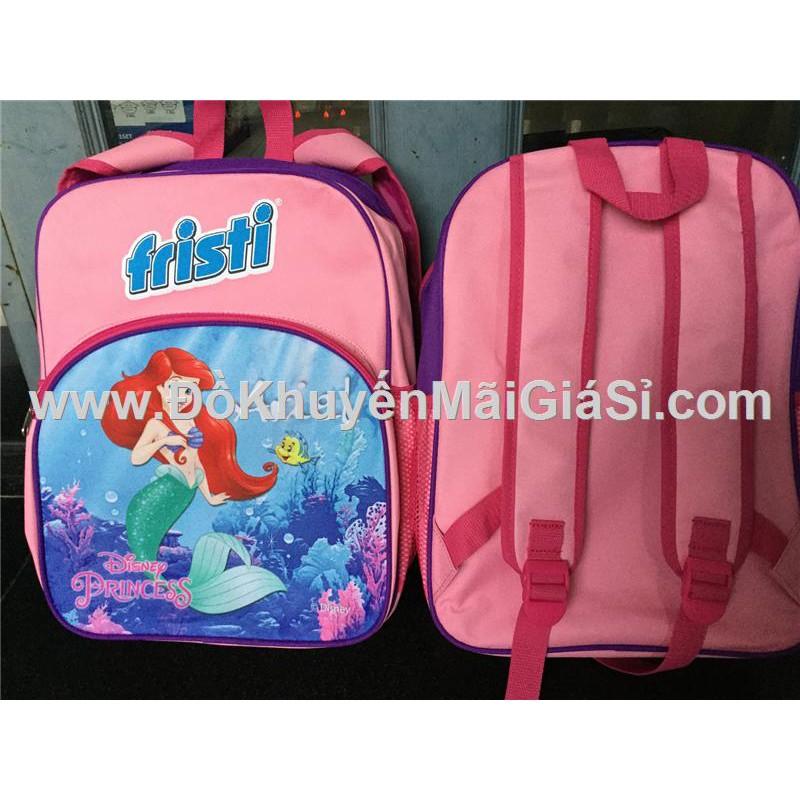 Balo Fristi 4 ngăn hình công chúa Ariel phim Nàng tiên cá cho bé gái - Kt: (27 x 13 x 37.5) cm.