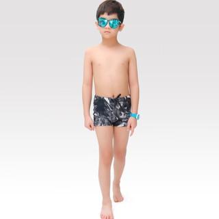 Quần bơi bé trai Narsis KQ0002 đen phối vải bơi vân đen đá