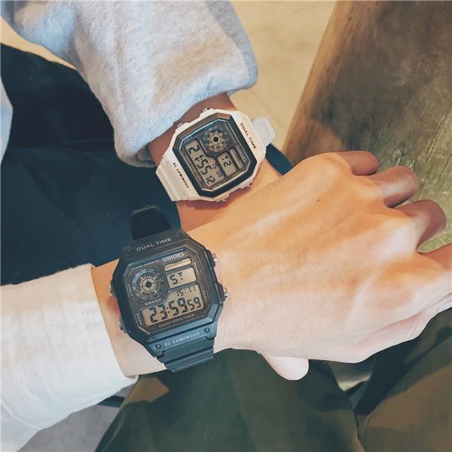 Đồng hồ nam thể thao Shhors size 42mm mặt vuông siêu độc