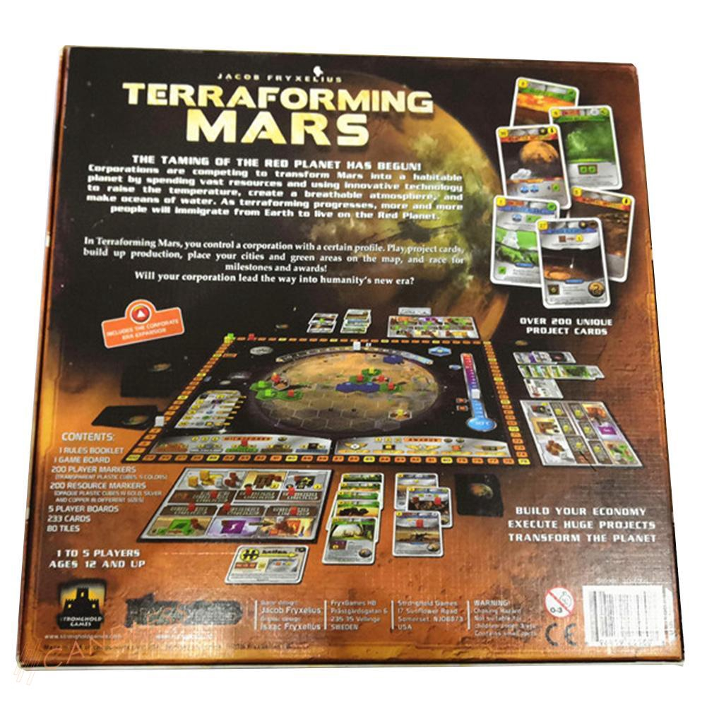 CD Terraforming Mars Party Game Playing Cards for Party Drinking Entertainment