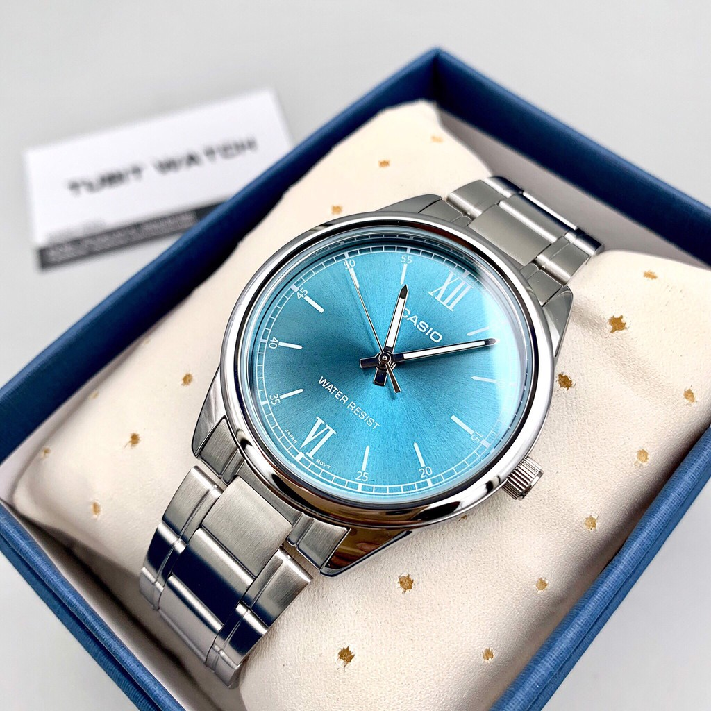 Đồng hồ nam dây kim loại chính hãng Casio Anh Khuê MTP-V005