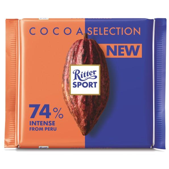 Socola đen 74% cacao Ritter Sport 100g