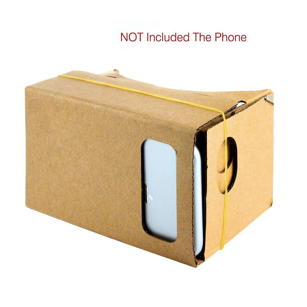 For Android IOS DIY Cardboard 3D Virtual Reality Glasses Free VR Movies