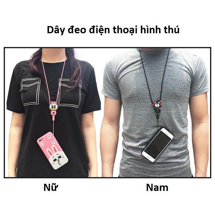 [Siêu hot] Dây đeo điện thoại hình thú có khóa