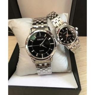 đồng hồ cặp nam nữ hery Luân Đôn Ll -5 dây thép nhiều màu