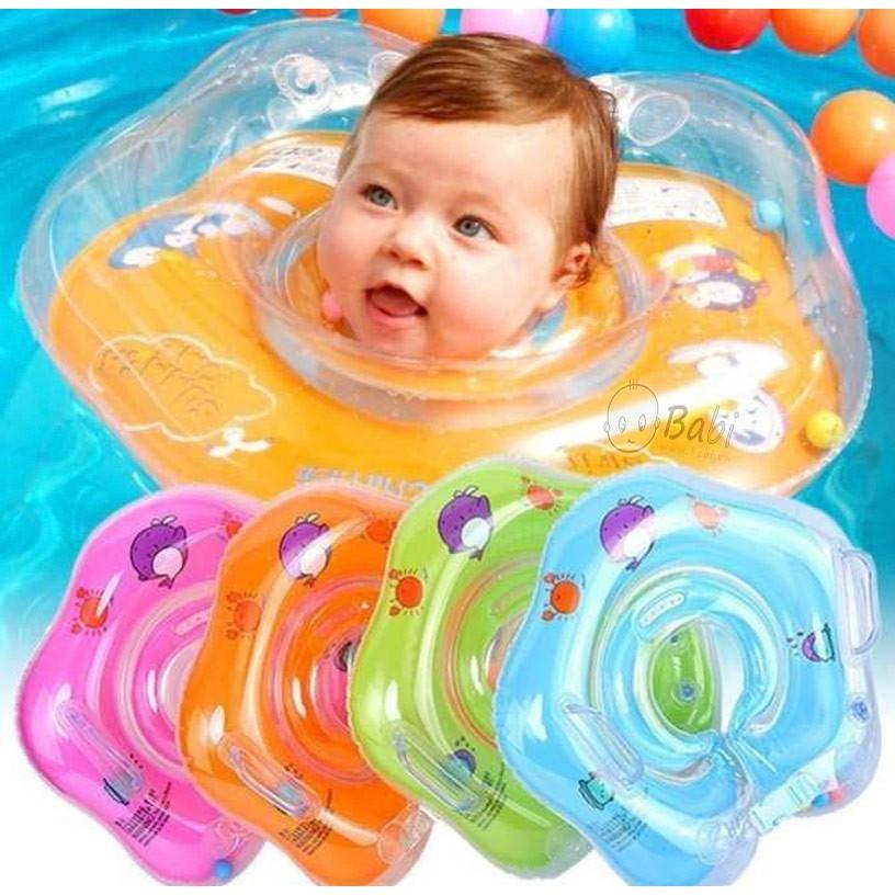 Phao bơi đỡ cổ cho bé, phao cổ chống lật an toàn cho bé tập bơi