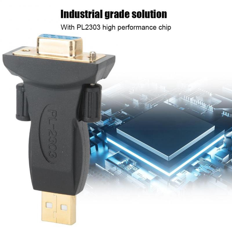Baojia PL2303 High Performance Chip ABS Housing Gold-Plated USB2.0 to RS232 Female Adapter Connector