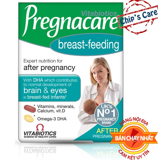 [Mã SKAMPUSH10 giảm 10% đơn 200K] Vitamin PREGNACARE BREASTFEEDING Bổ Sung Chất Cho Sữa Mẹ