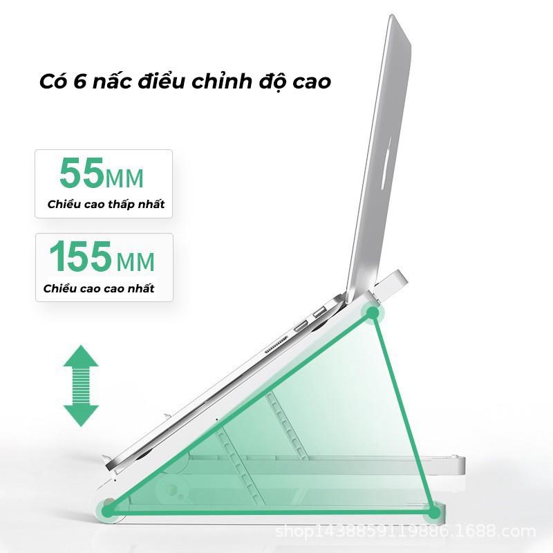 [Mã ELFLASH5 giảm 20K đơn 50K] Giá đỡ Laptop để bàn gấp gọn dễ dàng điều chỉnh độ cao hỗ trợ tản nhiệt - Trùm Phụ Kiện
