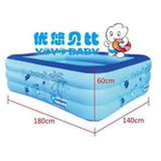 Bể bơi loại dày 180*140*6CM 3 tầng tặng bơm điện 2 chiều