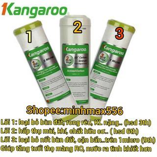 [GIÁ HỦY DIỆT] Bộ Lõi Lọc KANGAROO SỐ 1-2-3 Chính Hãng | Lõi lọc nước Kangaroo Chính Hãng