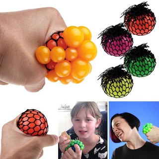 New 6cm Anti Stress Face Reliever Grape Ball Autism Mood Squeeze Relief Toy