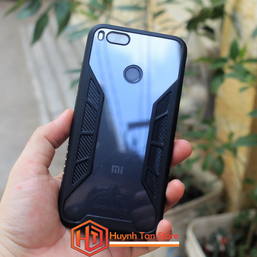 Ốp lưng Xiaomi MI A1 / Mi 5X _ Ốp cửa sổ 3D trong viền màu (Đen)