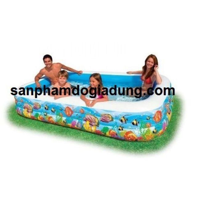 Combo bể + bơm máy Bể bơi gia đình vuông cá 305x183x56 intex 58485 - 3524656 , 1172916144 , 322_1172916144 , 1400000 , Combo-be-bom-may-Be-boi-gia-dinh-vuong-ca-305x183x56-intex-58485-322_1172916144 , shopee.vn , Combo bể + bơm máy Bể bơi gia đình vuông cá 305x183x56 intex 58485