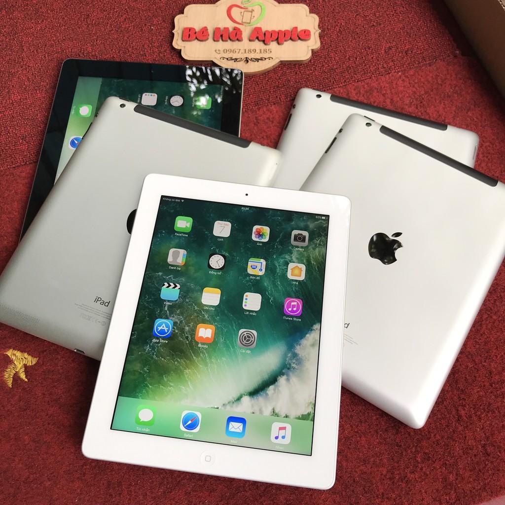 Máy Tính Bảng iPad 4 (Wifi + 4G) - 16Gb/ 32G/ 64Gb Chính Hãng - Zin Đẹp 99% - Màn Rentina Siêu Nét/ Pin Cực Trâu/ L