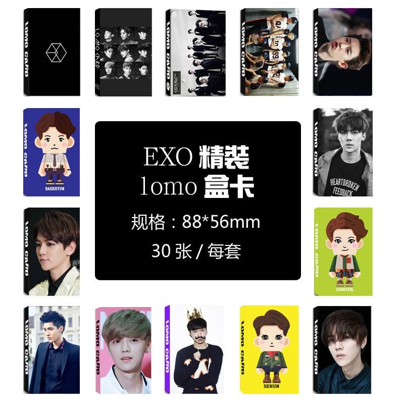 Youpop KPOP EXO LOMO Thẻ Thẻ Ảnh Giấy HD Photocard