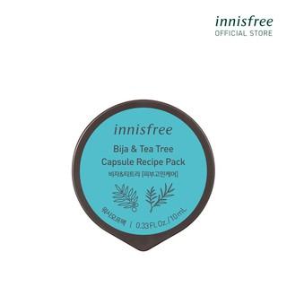 Mặt nạ rửa dạng hủ từ Bija & cây trà innisfree Capsule Recipe Pack Bija & Tea Tree 10ml