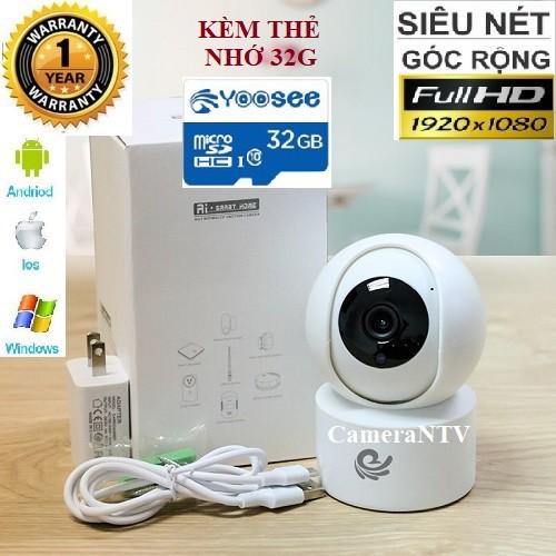 Camera IP Wifi CARECAM YH200 New FHD1080 - 2.0Mps kèm thẻ nhớ Yoosee 32G - Xoay Theo Chuyển Động - Bảo Hành 12 Tháng