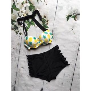 Bikini hai mảnh áo dứa đẹp sexy mặc đi biển ( Ảnh chụp thật 100%)