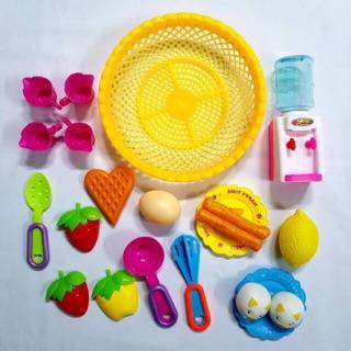 [Mã DOCHTRE19 giảm 15K đơn từ 200K] Rổ đồ chơi bánh, trái cây, bình lọc nước dành cho bé