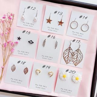 Bông tai nhỏ xinh nhiều mẫu màu bạc cá tính năng động dành cho nữ - MELY 03 thumbnail