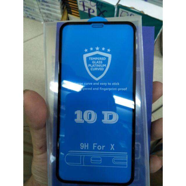 Kính cường lực full màn 10D cho iPhone X