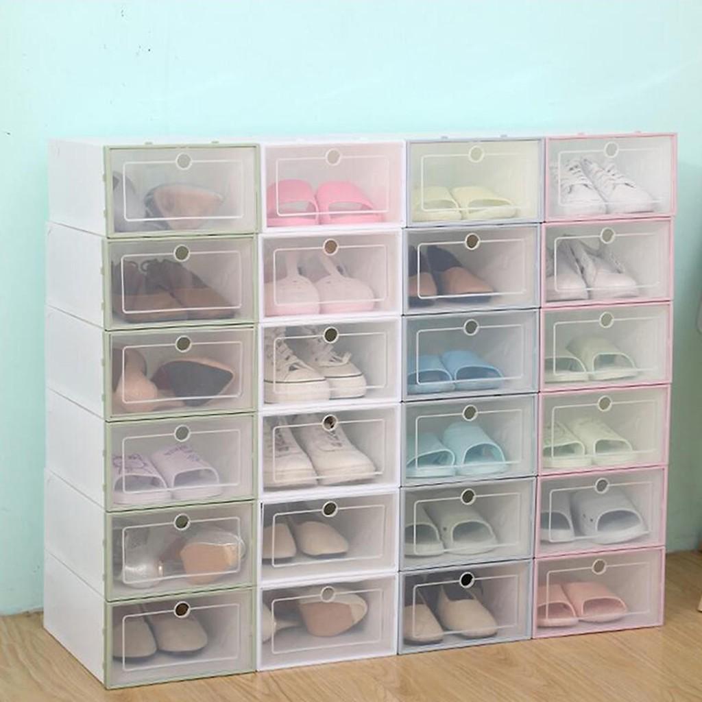 Hộp đựng giày dép có nắp nhựa trong suốt đa năng tiện lợi