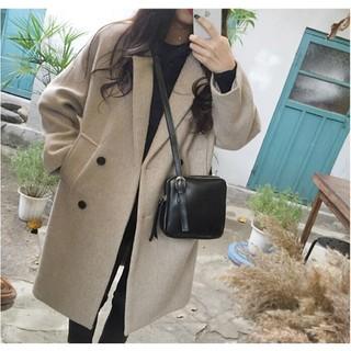 [ORDER] Áo Khoác Dạ Nữ Style Hàn Quốc (Order) sẵn đen/L