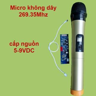 [Mã ELFLASH5 giảm 20K đơn 50K] Micro không dây đơn VHF loa kéo mạch loa kéo màu vàng, micro cho loa kéo