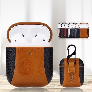 Bao da bảo vệ tai nghe Airpod/Airpods 2 Apple Leather Case phối da vảy rắn
