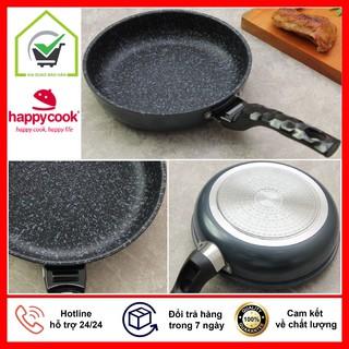 Chảo Vân Đá Siêu Bền Cao Cấp Happy Cook Dùng Cho Tất Cả Các Loại Bếp - Hàng Chính Hãng