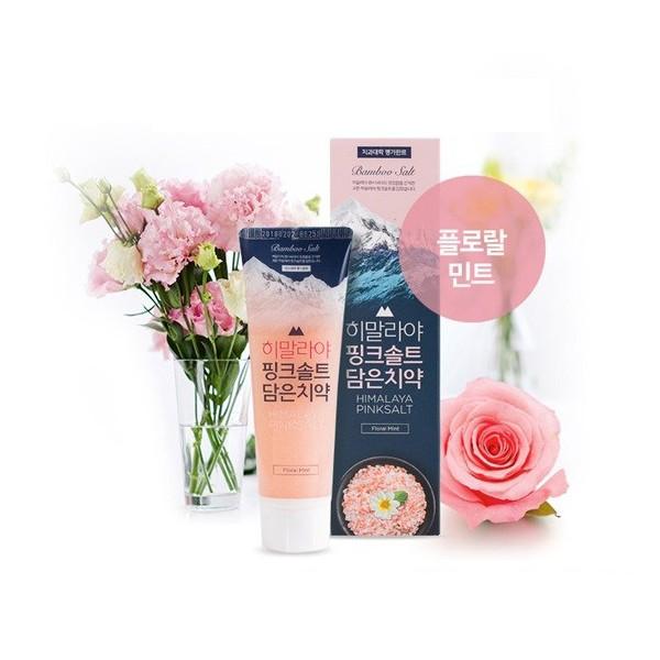 Kem đánh răng Himalaya Pink Salt muối hồng, bảo vệ khỏi vi khuẩn với hơi thở thơm mát - Hương Hoa Bạc Hà 100g