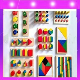 Bộ Giáo Cụ Montessori – 8 Món – Đồ Chơi Giáo Dục Gỗ An Toàn Cho Bé…
