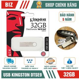 USB 32GB Kingston DTSE9 G2 - Vỏ kim loại - Bảo hành 5 năm!!!