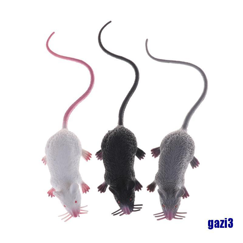(gazi3) Lumi Party Plastic Rats Mouse Model Trick Toys Halloween Decor Tricks Pranks Props Toy
