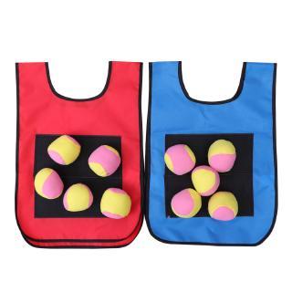 2pcs Vest Sturdy Durable Sticky Vest for Children with 10 Soft Balls