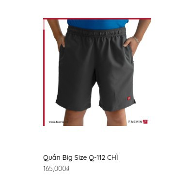 Quần thể thao nam- BIG SIZE- có size cho người 105 kg D206