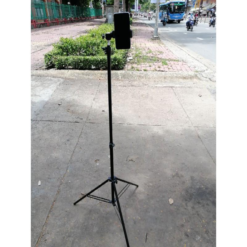 chân livestream, chân tripod kẹp điện thoại 2m1