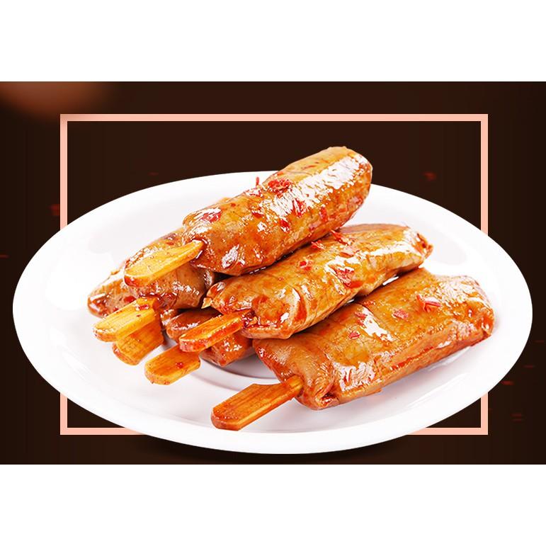 Xúc Xích Chay Cay Cay Hương vị BBQ, Thịt Chay Nướng Cay - Đồ ăn vặt TQ gói 26g